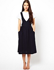 Les Prairies De Paris Pinafore Dress in Cotton