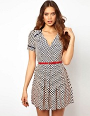 Little Mistress Heart Print Dress
