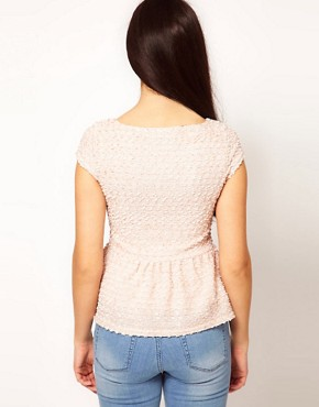 Image 2 ofRiver Island Textured Peplum Top