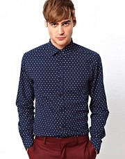 Selected Shirt with Polka Dots