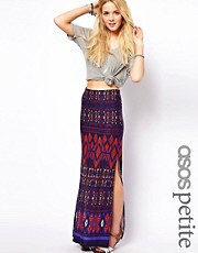 ASOS PETITE Maxi Skirt in Aztec Print