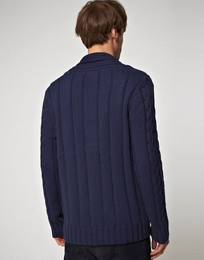 Image 2 ofJack And Jones Vintage Farmer Cable Cardigan