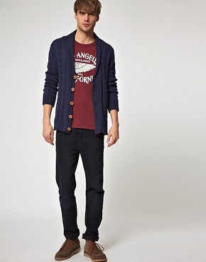 Image 4 ofJack And Jones Vintage Farmer Cable Cardigan