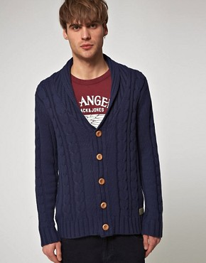 Image 1 ofJack And Jones Vintage Farmer Cable Cardigan
