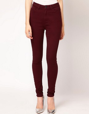 Image 1 ofJust Female Coloured High Waisted Skinny Jeans