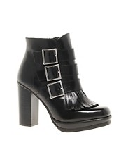 ASOS ALLIANCE Leather Ankle Boots
