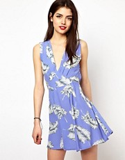 Motel Feather Print Dress