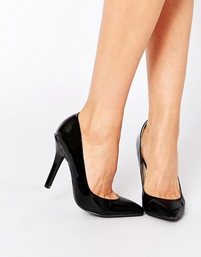 London Rebel Black Patent Pumps