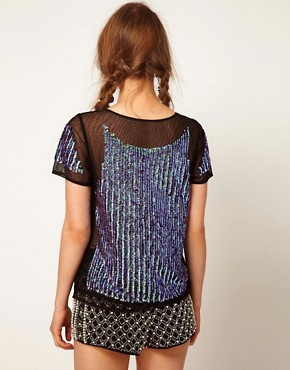 Image 2 ofASOS Top with Hologram Panel Embellishment