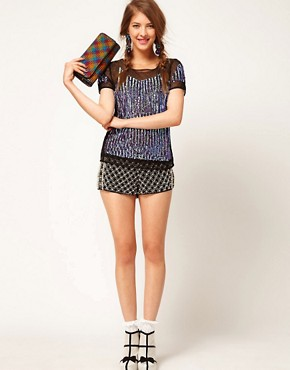 Image 4 ofASOS Top with Hologram Panel Embellishment