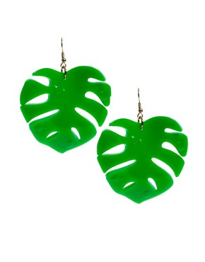 Image 1 ofTatty Devine Hot House Leaf Earrings