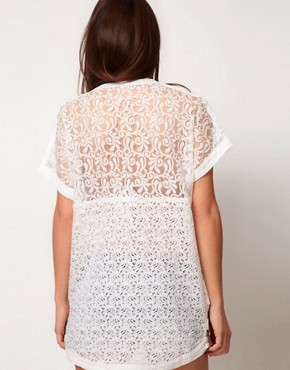 Image 2 ofASOS Lace Beach T-Shirt