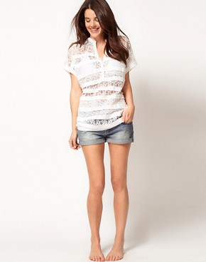Image 4 ofASOS Lace Beach T-Shirt