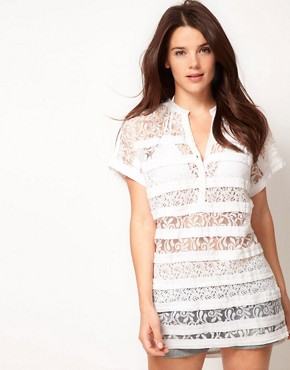 Image 1 ofASOS Lace Beach T-Shirt