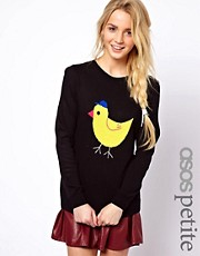 ASOS PETITE Exclusive Chick Jumper
