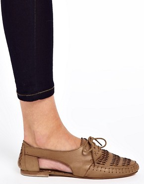 Image 3 ofASOS JUKEBOX Leather Flat Shoes