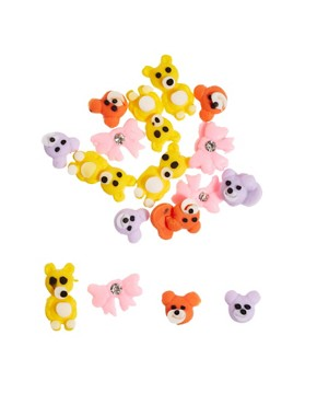 Image 2 ofNail Rock Frou Frou 3D Nail Apps - Teddy Bears