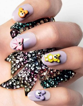 Image 3 ofNail Rock Frou Frou 3D Nail Apps - Teddy Bears