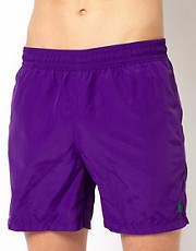 Polo Ralph Lauren Purple Hawaiian Swim Shorts