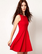 Club L Skater Dress With Open Back