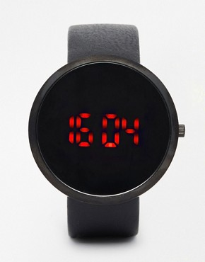 ASOS Digital Watch in Sleek Black