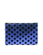 ASOS Clutch Bag With Metallic Spot