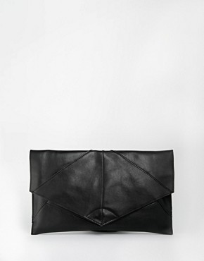 ASOS Unlined Leather Soft Seam Clutch Bag