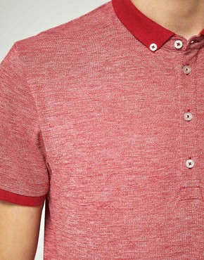 Image 3 ofASOS Polo Shirt With Twisted Yarn