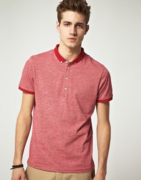 Image 1 ofASOS Polo Shirt With Twisted Yarn