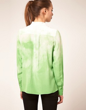 Image 2 ofASOS PREMIUM Silk Shirt With Water Print