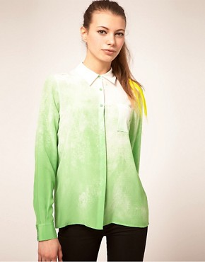 Image 1 ofASOS PREMIUM Silk Shirt With Water Print