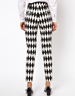 Image 2 ofASOS Trousers In Diamond Jacquard