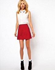 ASOS A-Line Skirt in Ponte