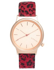 Komono Red Leopard Watch