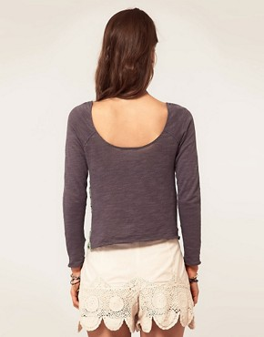 Image 2 ofFree People Crochet Front Jersey Top