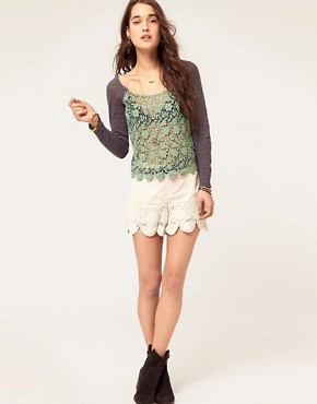 Image 4 ofFree People Crochet Front Jersey Top