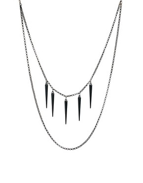 Image 1 ofASOS Spike Layered Necklace