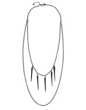 Image 2 ofASOS Spike Layered Necklace