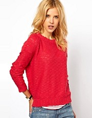 Mango Slub Slouch Sweater