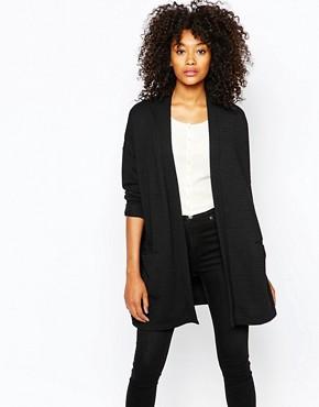 Monki Stripe Jersey Oversized Cardigan