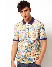 Beck &amp; Hersey Polo with Tropicana Print