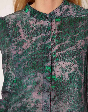 Image 3 ofSee by Chloe Berlin Print Silk Shirt