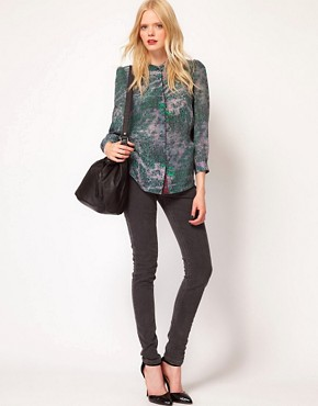 Image 4 ofSee by Chloe Berlin Print Silk Shirt