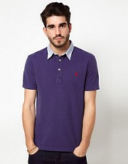 Polo Ralph Lauren Polo Shirt In Blue With Blue Contrast Collar