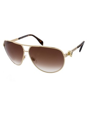 Image 1 ofAlexander McQueen Skull Aviator Sunglasses