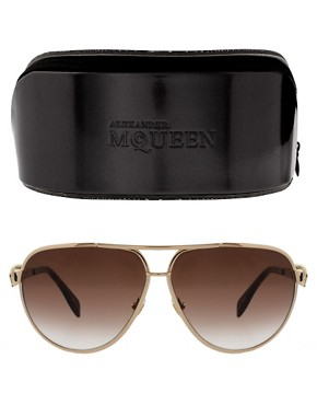Image 2 ofAlexander McQueen Skull Aviator Sunglasses