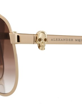 Image 4 ofAlexander McQueen Skull Aviator Sunglasses