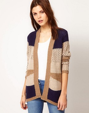 Image 1 ofWarehouse Block Pattern Cardigan