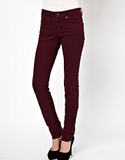 ASOS Elgin Supersoft Skinny Jeans in Oxblood