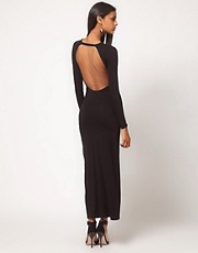 ASOS Maxi Dress with Thigh Split &amp; Scoop Back